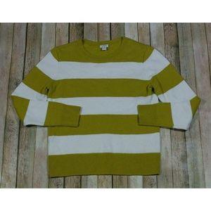 J. Crew Wide Stripe Sweater Midweight Wool F5967